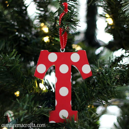 Easy Wooden Initial Ornament