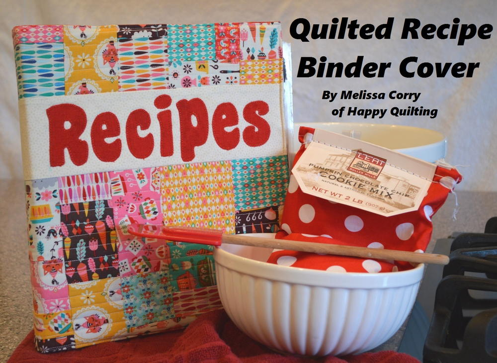Quilted Book Cover Pattern Free : Quilted recipe binder cover favequilts