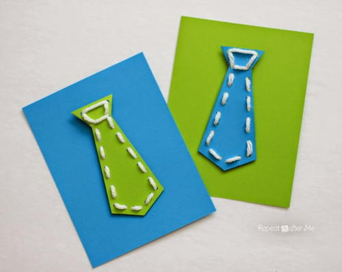 Tie-Me-On Fathers Day Card