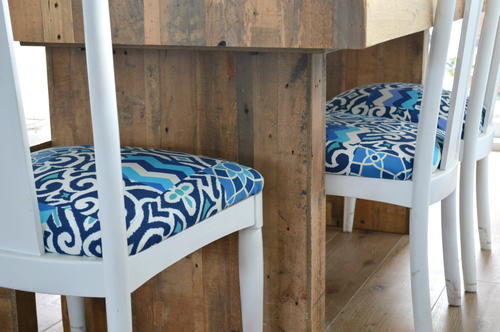 Reupholster Your Chairs with a Quilt