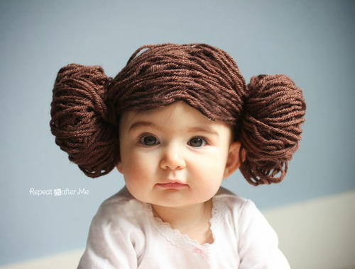 Princess Leia-Inspired Yarn Wig