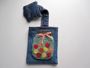 Sweet Denim Snip-It Bag