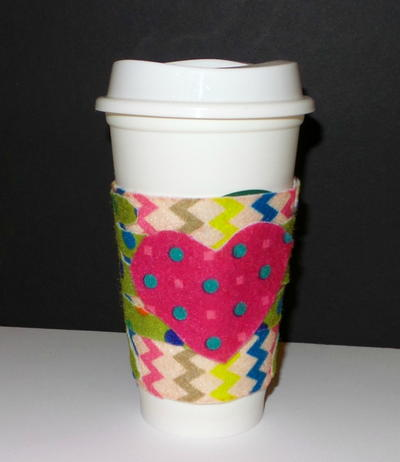 Handprint DIY Coffee Cozy