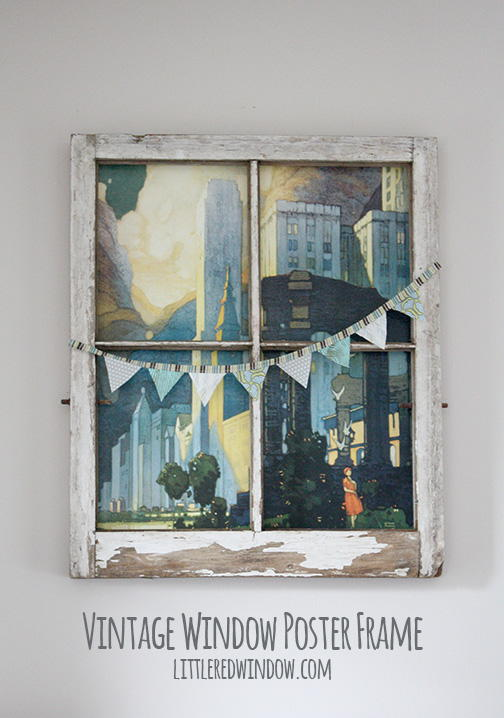 Vintage window diy wall art for Craft projects using old windows