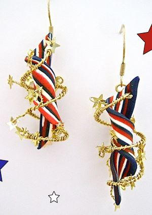 Star Spangled DIY Earrings