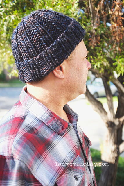 Mens Simple Ribbed Beanie
