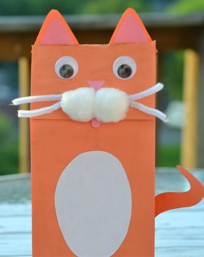 Cat S Meow Paper Bag Puppets Allfreekidscrafts Com