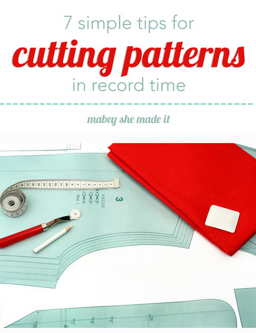 Tips for Cutting Patterns in Record Time