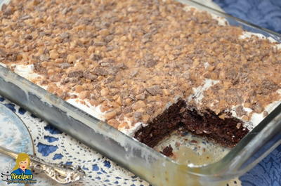Heath Bar Cake using Cake Mix