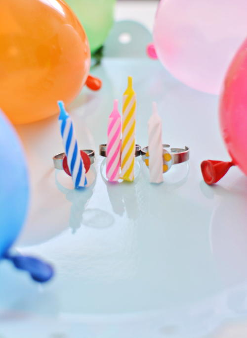Birthday Candle DIY Rings