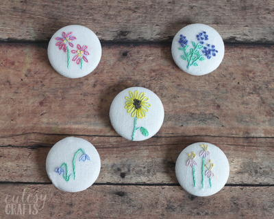 Spring Flowers DIY Magnets
