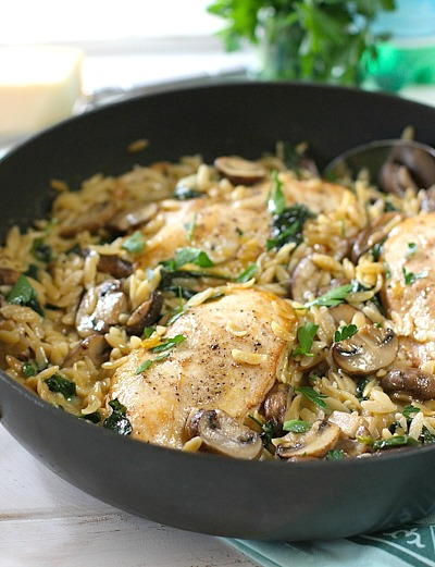 Creamy Chicken and Mushroom One Pot Meal