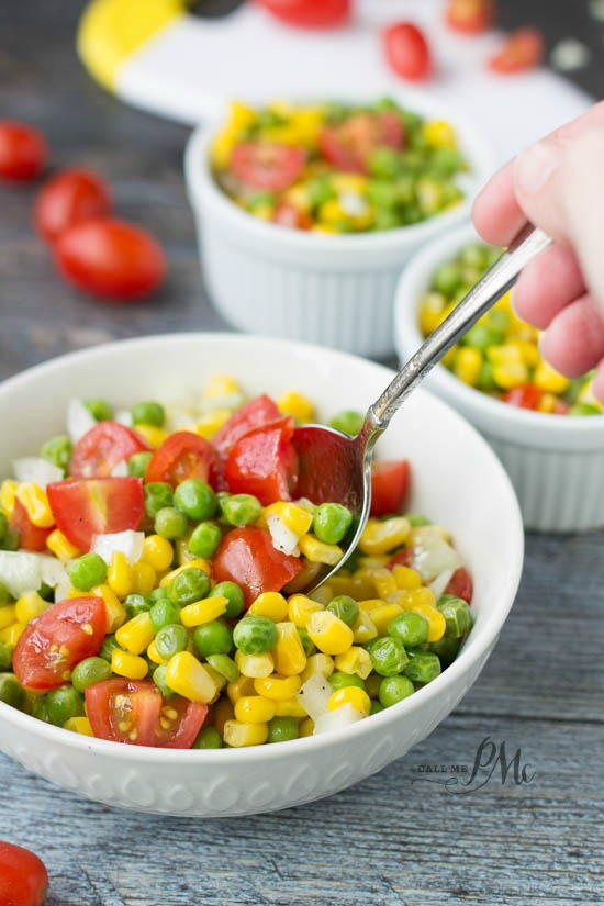 Marinated English Pea and Corn Salad
