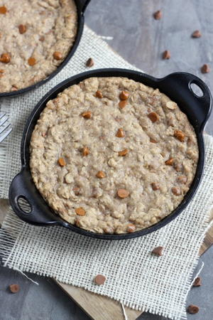 Skillet Oatmeal Cookies for Two