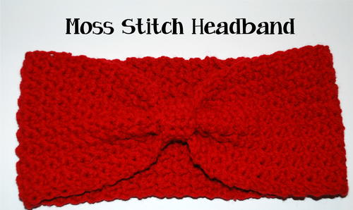Crochet Moss Stitch Headband