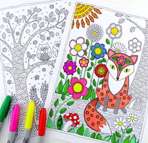 50 Adult Coloring Book Pages Free and Printable FaveCraftscom