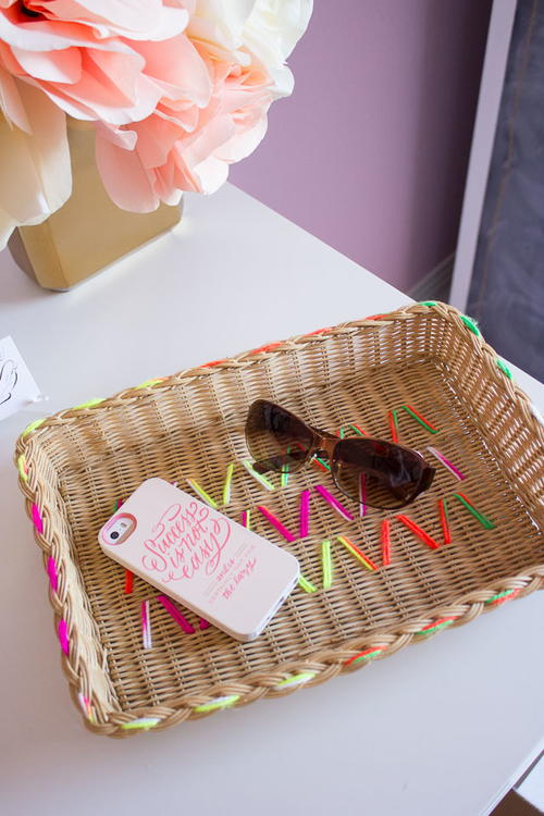 Embroidered Basket DIY Decor