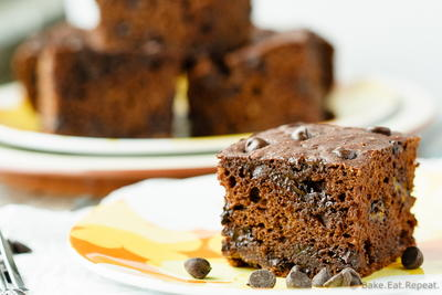 Healthy Chocolate Banana Snack Cake