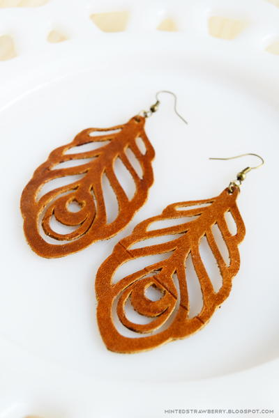 How to Make Leather Feather Earrings