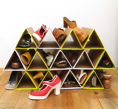 Space-Saving DIY Shoe Rack