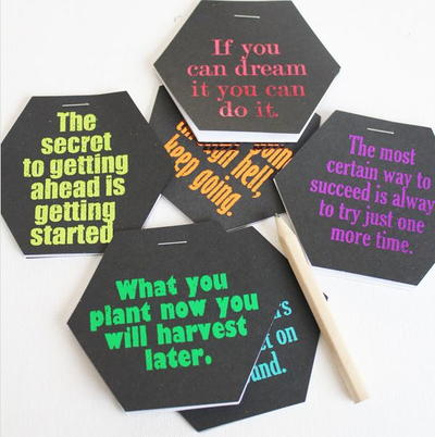 Inspirational Quote DIY Notebooks