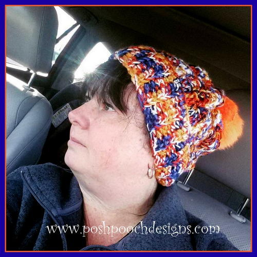 Fuzzy Top Broncos Colors Beanie