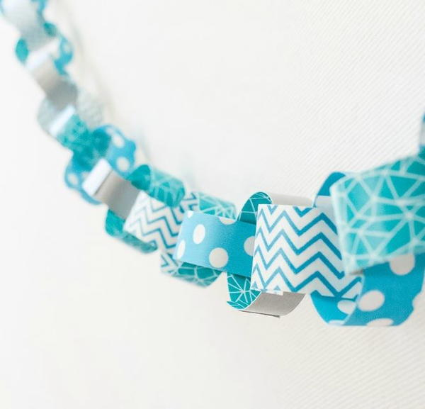 Wintry Washi Tape DIY Garland