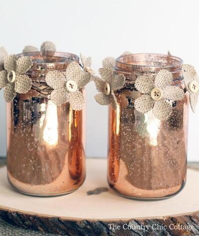 Rustic Glamour Mason Jar Crafts