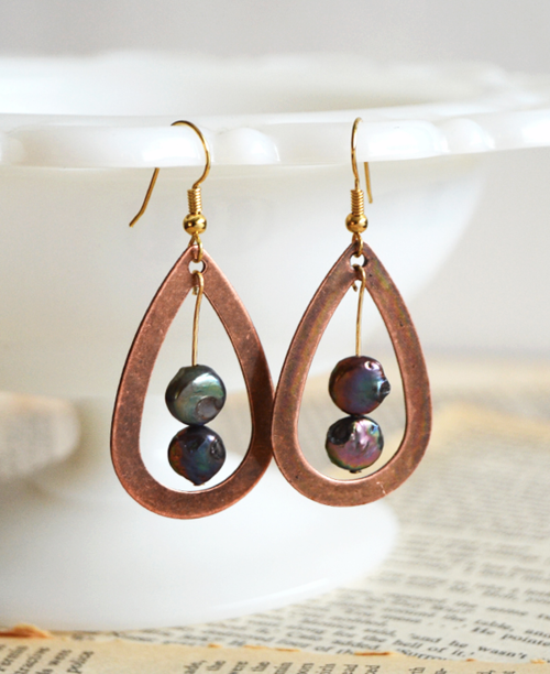 Iridescent Drop DIY Wire Earrings