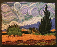 Post-Impressionist Rug Hooking