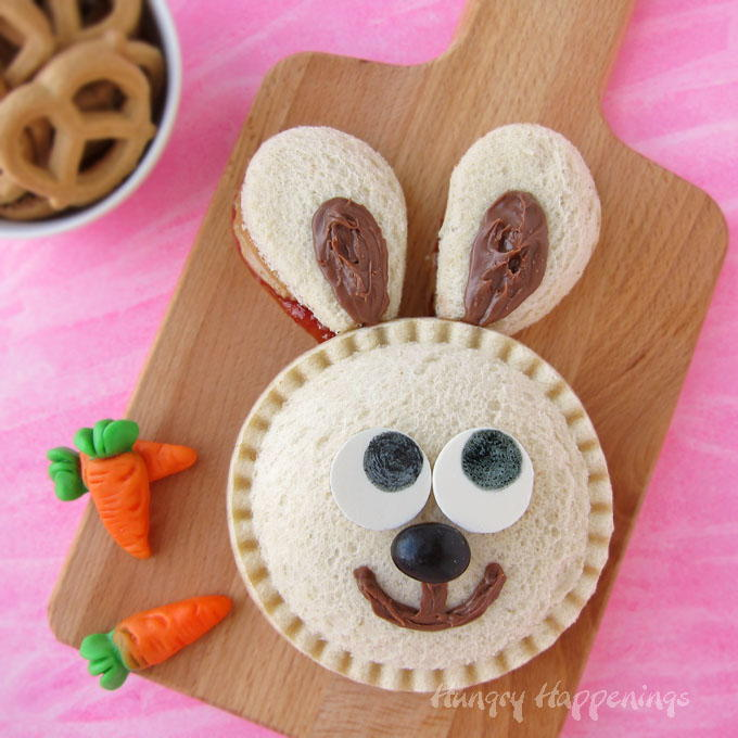 Pb Amp J Bunny Sandwich Snack Allfreekidscrafts Com