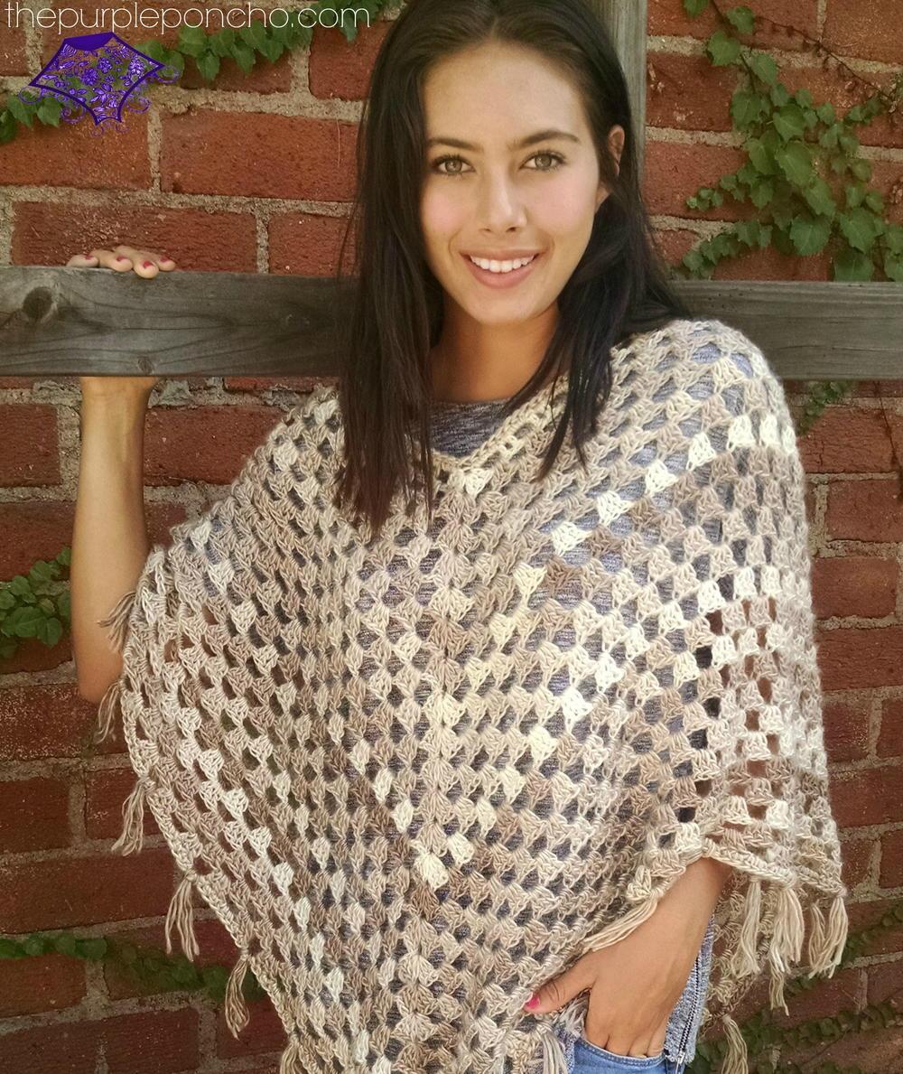 Free Crochet Patterns Plus Size Ponchos : Boho Poncho AllFreeCrochet.com