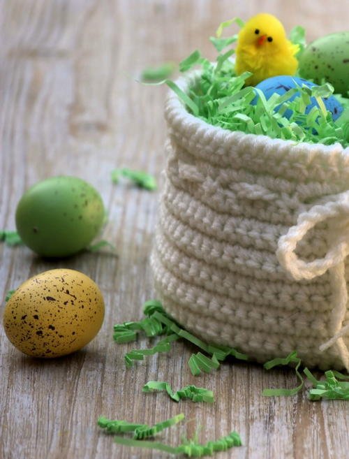 Cute Crochet Easter Basket