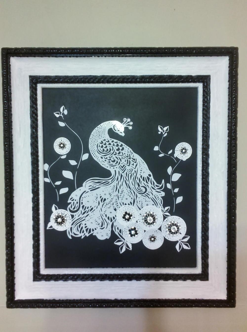 Peacock Lace Diy Wall Art Favecrafts Com