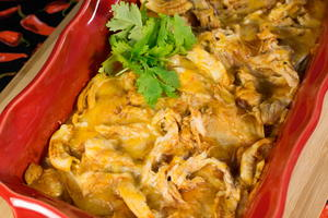 4-Ingredient Chicken Enchilada Casserole