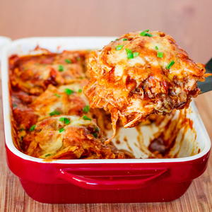 Easiest-Ever Chicken Enchilada Casserole