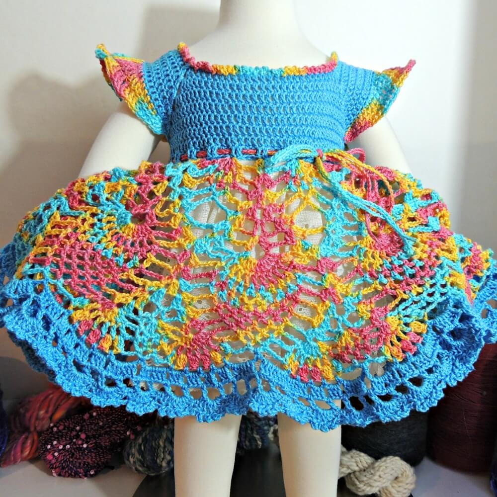 Grace And Charm Crochet Baby Dress Favecrafts Com