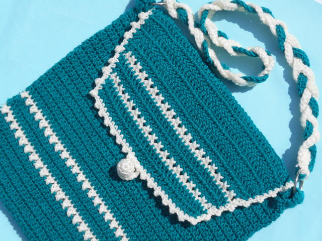 Crochet Shoulder Bag Pattern : Shoulder Bag Crochet Pattern FaveCrafts.com