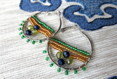 Festive Hoops DIY Earrings