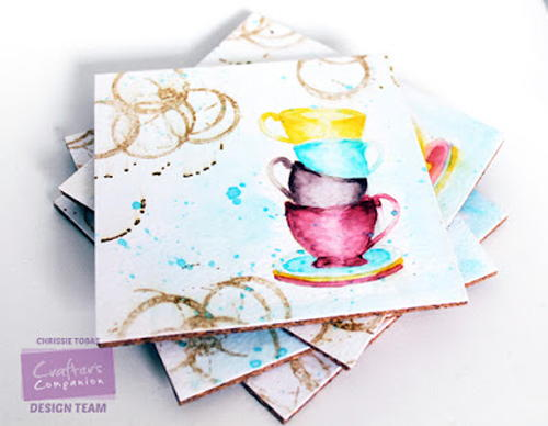 Watercolor DIY Coasters