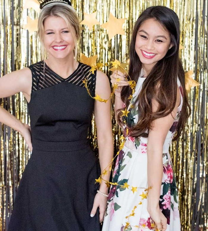 DIY Gold and Fringe Photobooth Backdrop