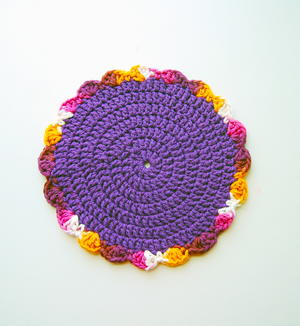 Floral Crochet Dishcloth Pattern