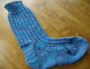 (Not) Wasting Time Knitted Socks