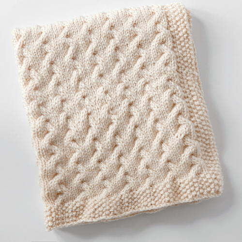 How big should a knitted baby blanket be