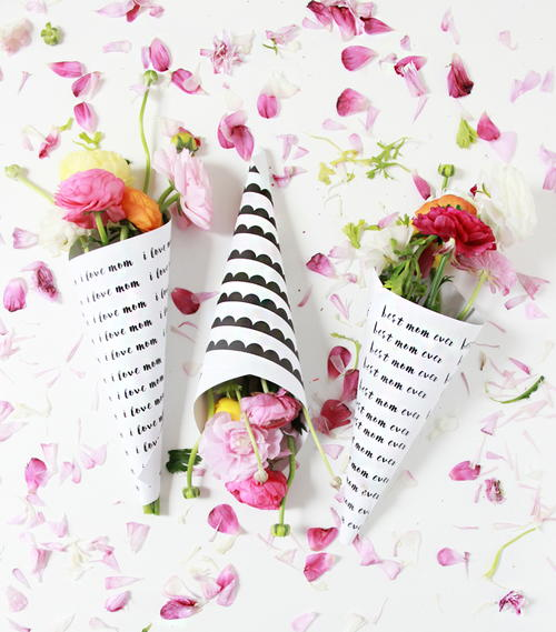 Free Printable Flower Bouquets for Mothers Day