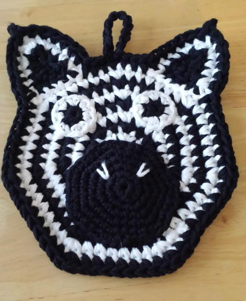 They're Animal Potholders for Crocheting