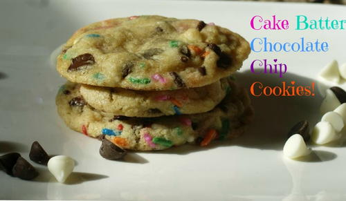 Cake Batter Sprinkles Chocolate Chip Cookies