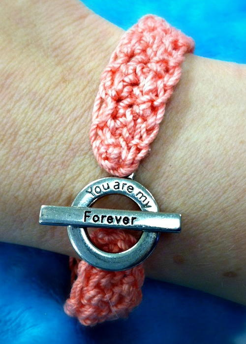 Forever in Love Crochet Bracelet