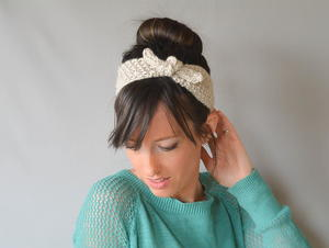 Vintage Tie Up Knit Headband