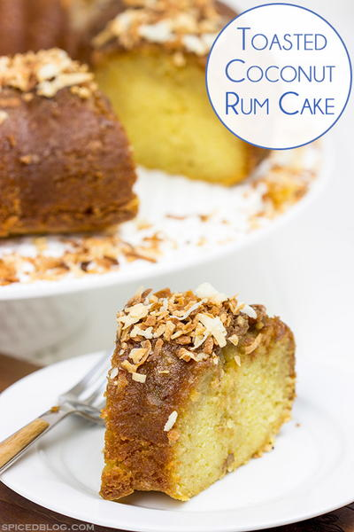 Toasted Coconut Rum Cake